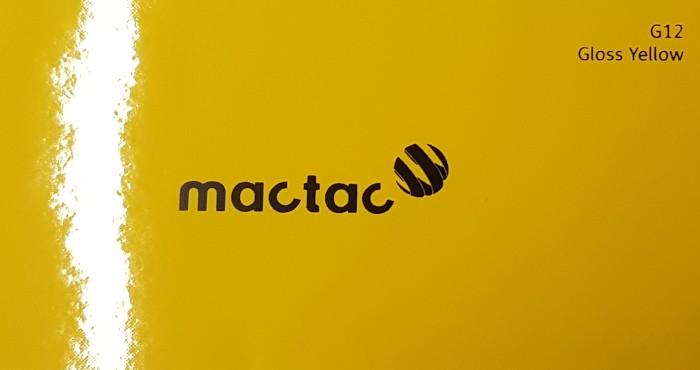 Mactac G12 Gloss Yellow