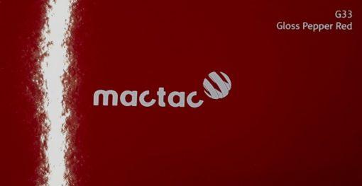 Mactac G33 Pepper Red