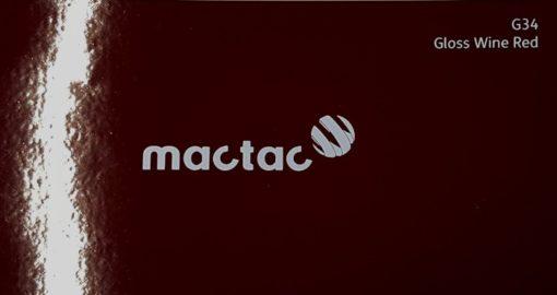 Mactac G34 Gloss Wine Red