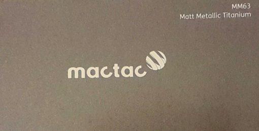 Mactac MM63 Matt Metallic Titanium
