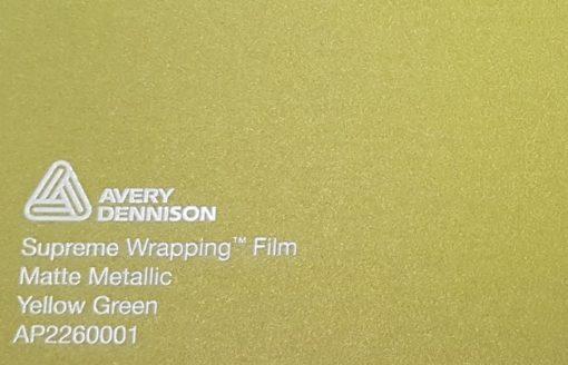 Avery SWF Matte Metallic Yellow Green