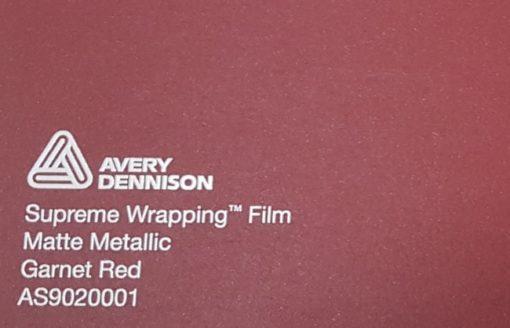 Avery SWF Matte Metallic Garnet Red