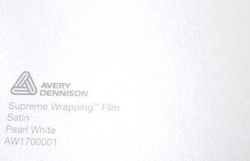 Avery SWF Satin Pearl White autoteippi