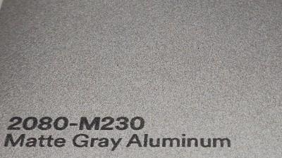 3M 2080 M230 Matte Gray Aluminium yliteippauskalvo