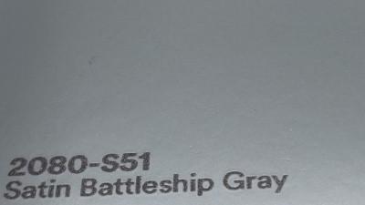 3M 2080 S51 Satin Battleship Gray yliteippaustarra