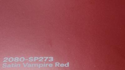 3M 2080 SP273 Satin Vampire Red yliteippauskalvo